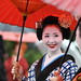 舞妓 豆はなさん April Showers : The maiko (apprentice geisha) Mamehana
