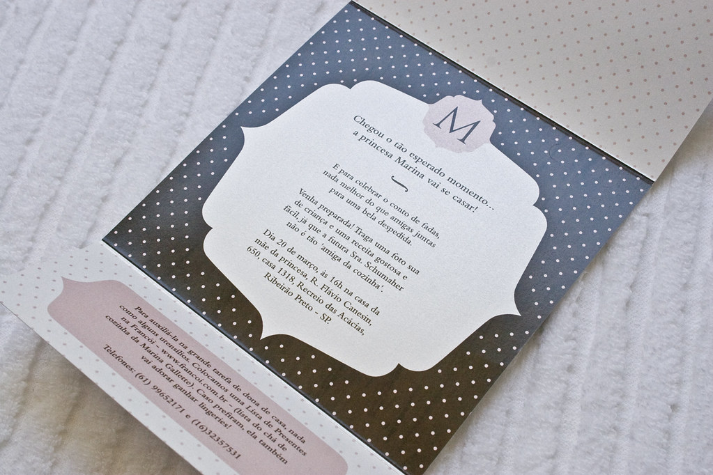 bridal shower invitation | convite chá de panela | Flickr