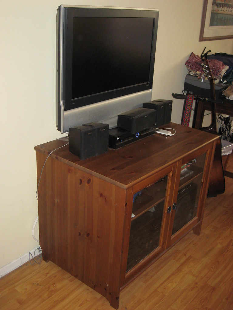 ... Ikea LekSvik TV/DVD/Stereo Stand/cabinet For $60 (retails For $149