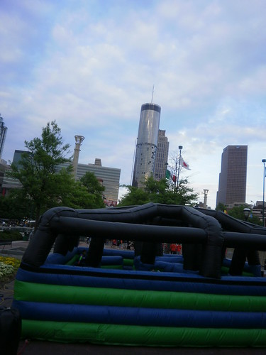 Atlanta skyline and bouncy castle | by holytrinityrobotics