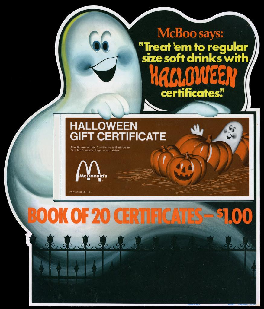Mcdonalds gift card coupon book apple store student deals 2018 mcdonalds and wendys halloween coupon books freebieblogger xflitez Images