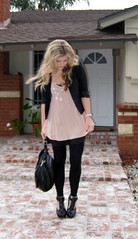 what I wore+Miguelina silk crepe top+Prada Chandelier Necklace diy -3 | by ...love Maegan