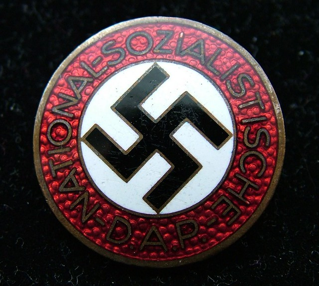 Nazi Party Nsdap Enamelled Membership Badge Enamelled