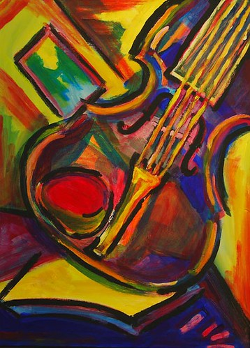 expressionist violin | by Steve A Johnson
