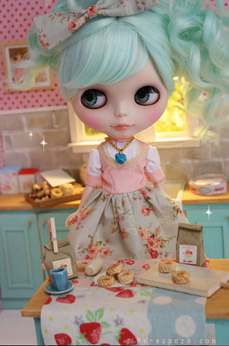 Anette Custom Blythe and Diorama | by Keera