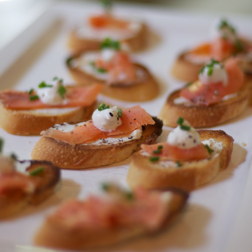 Smoked Salmon Crostini | Happy Memorial Day! We're nibbling ...