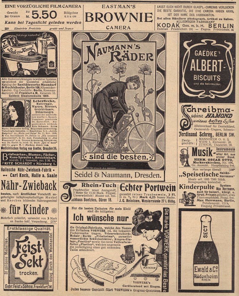 German Sheet Of Ads Another Page Of Ads From The German