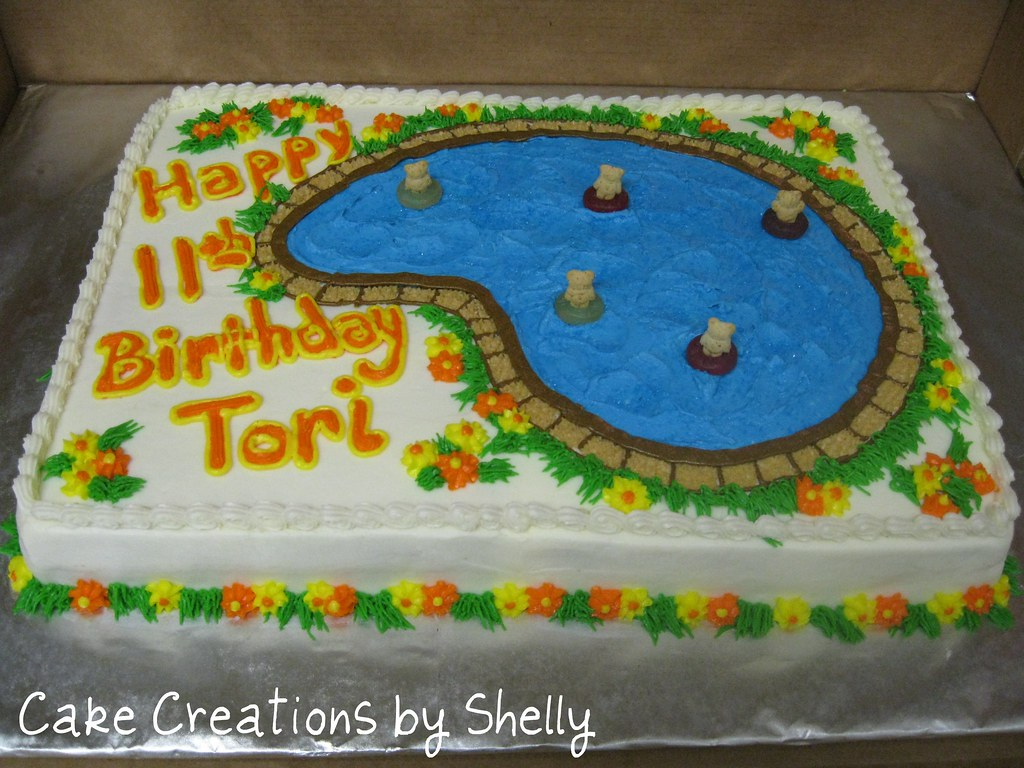 Swimming pool birthday cake 2 Swimming pool birthday ...
