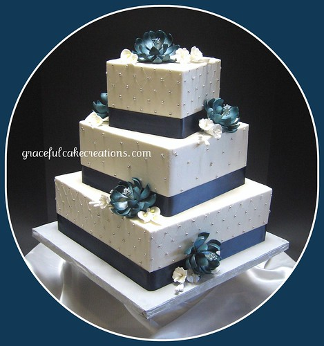Teal Blue Cake Stand
