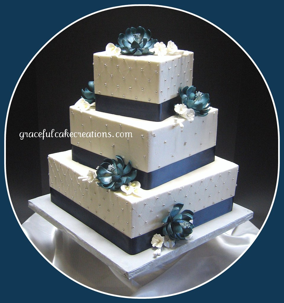 Square Wedding Cake Gallery