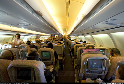 Emirates A340 500 Cabin Www Airliners Net Photo Emirates