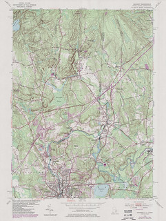 Ashaway Quadrangle 1984 - USGS Topographic Map 1:24,000 | by uconnlibrariesmagic