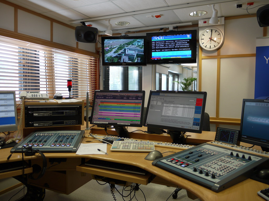 Radio Studio At Yle A Radio Studio At Finnish