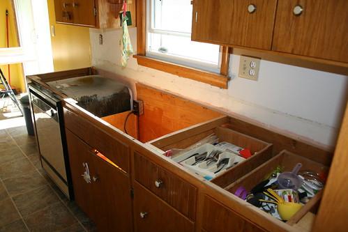 Kitchen Remodel White Shaker Style Blue Island