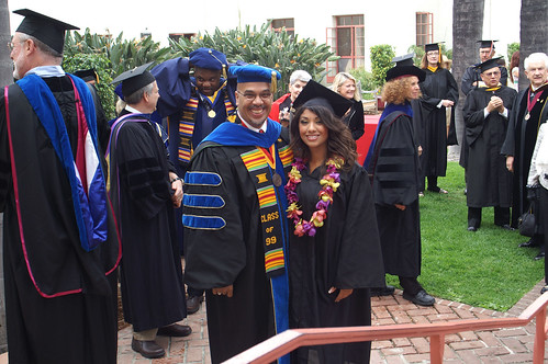 Student and Staff Posing for a Photo Before Graduation | by California State University Channel Islands