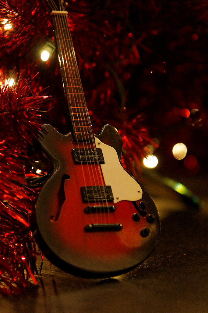 Guitar - Christmas tree decoration in Hard Rock Hotel, Mac ...