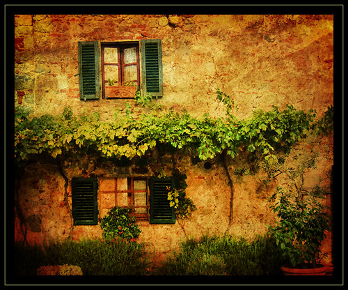 Casa Rustica   Rustic cottage with lots of vegetation ...