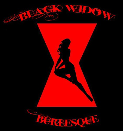 Black widow hourglass logo