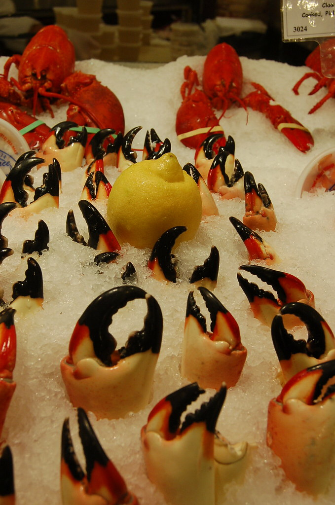 ChelseaMarket Lobster Place | Beautiful stone crab claws ...