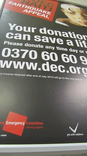 Dec Haiti Earthquake Appeal Poster Disasters Emergency