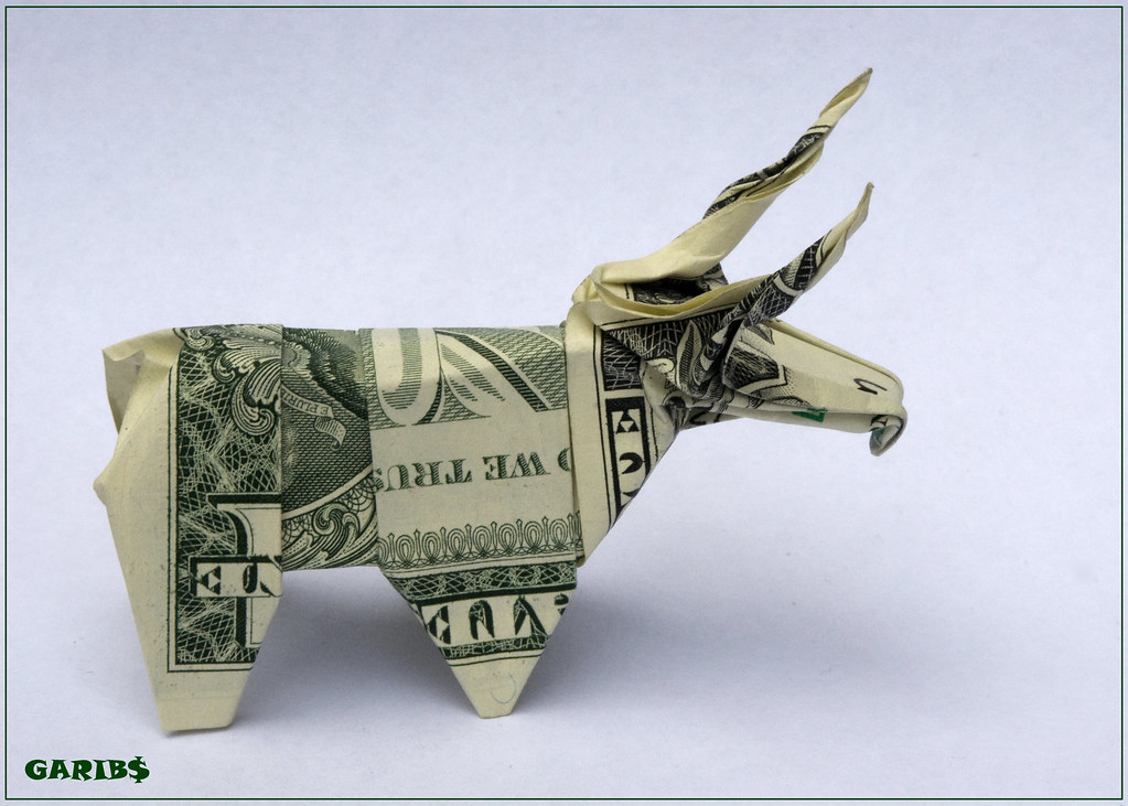 Dollar Origami Bull Same Legs Well Almost Could Be Done Flickr