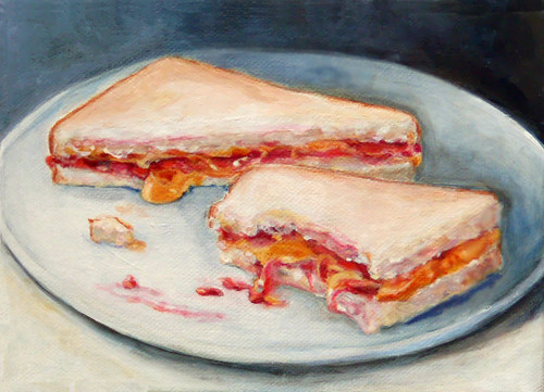 Peanut Butter And Jelly On A  Plate | by art on the menu