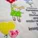 Valentine's mini quilt front detail