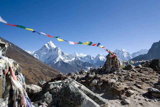 Prayer Flags - Nepal. Photo courtesy of lampertron.