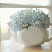 Flower-filled teapot