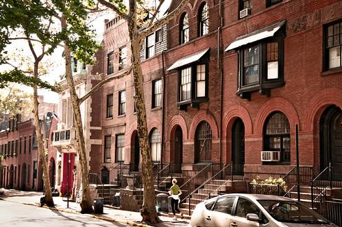 New York Row Houses : Hicks street row houses nos  brooklyn