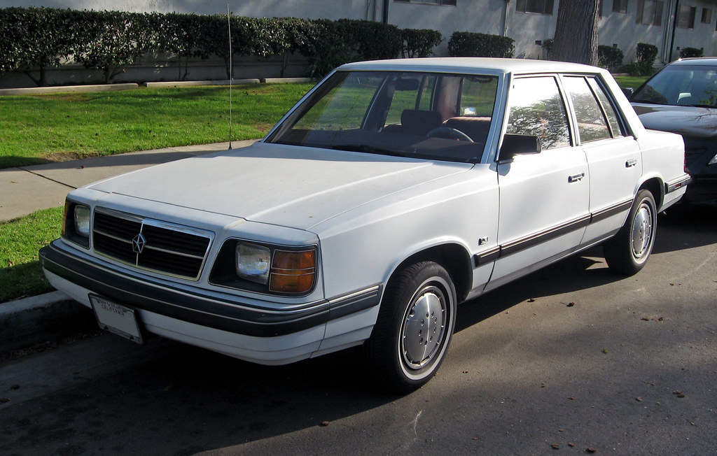 1988 Dodge Aries K sedan front 3q   Ate Up With Motor   Flickr