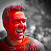Holi festival : red head ?