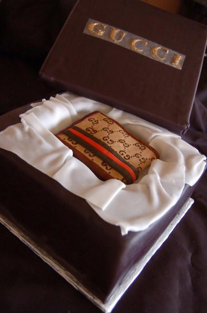 gucci wallet gift box cake   Christine Santos