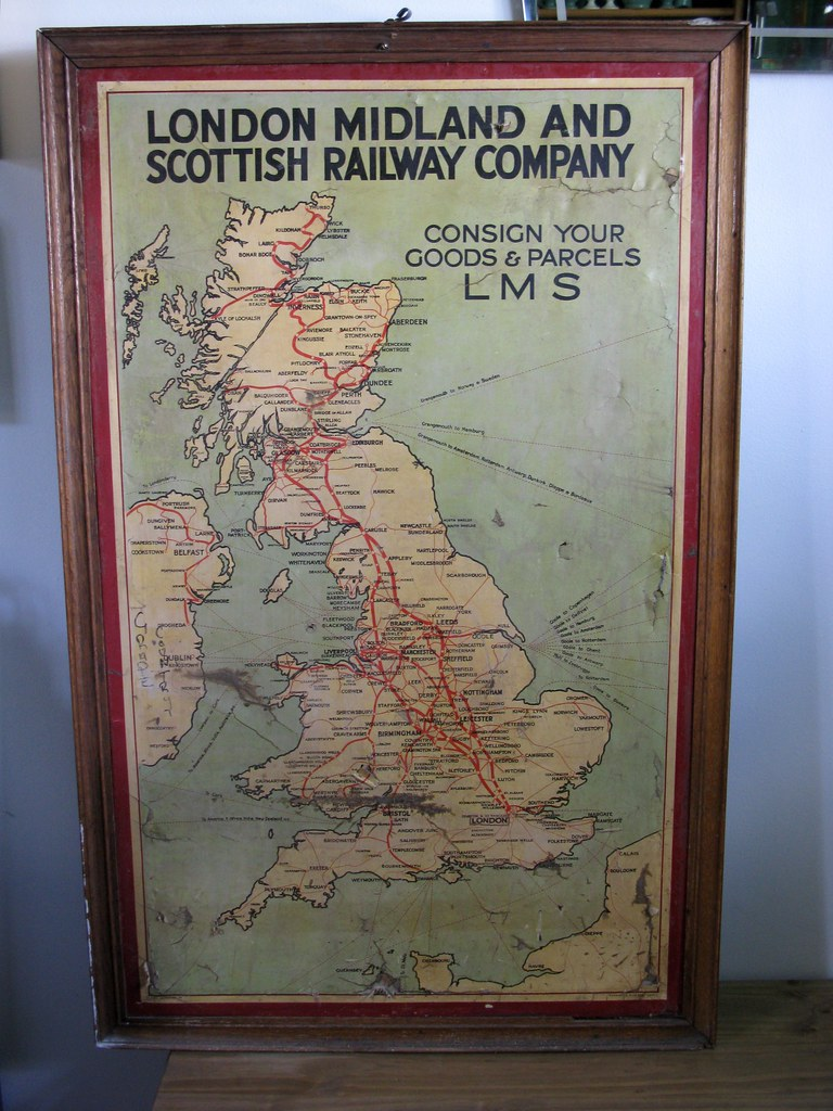 London Midland Amp Scottish Railway Poster Map C1930 Flickr