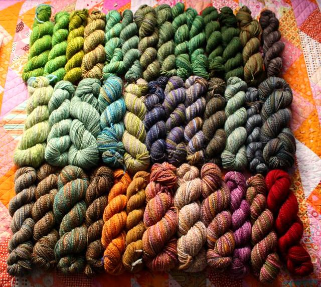 Knitting Handspun Wool : Handspun yarn not knitting fast enough to keep up swim