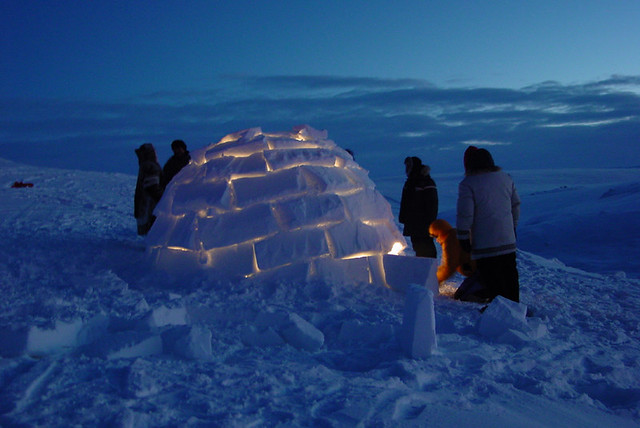 Modern Day Igloo This Picture Was Taken In The Middle Of