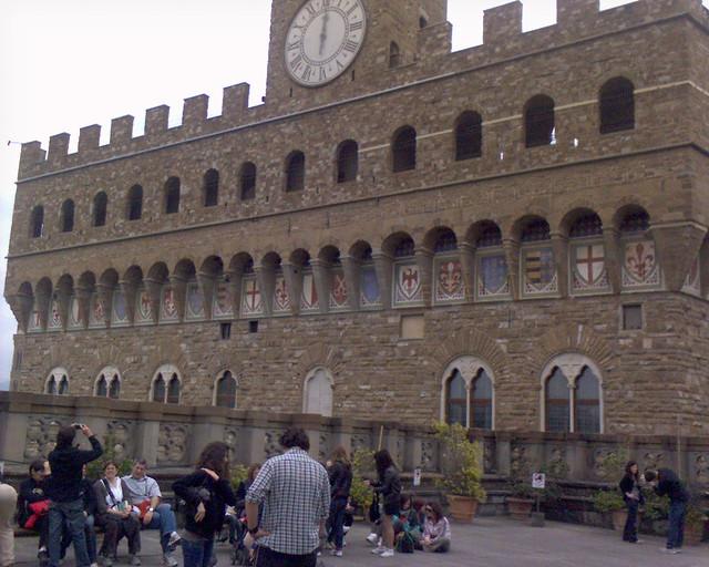 Palazzo Vecchio Dalla Terrazza Del Bar Degli Uffizi Duran