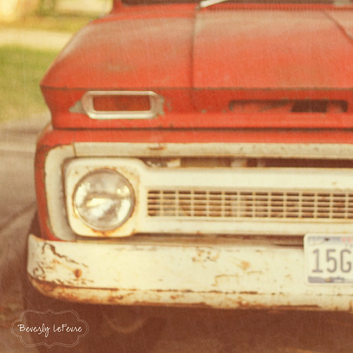 old red truck | by life stories photography