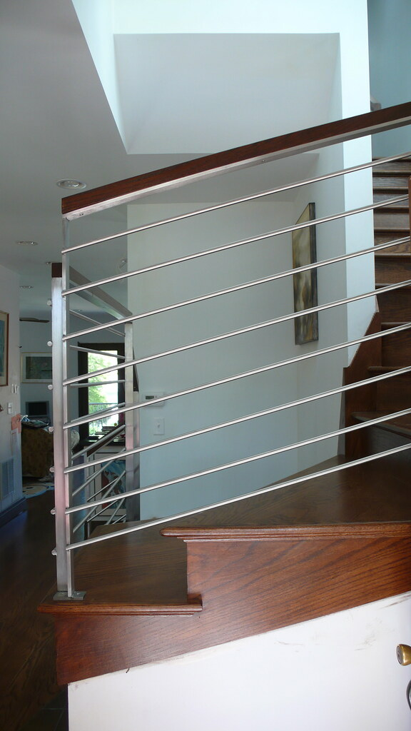 Modern Stainless Steel Stair Case Railing Front View Flickr