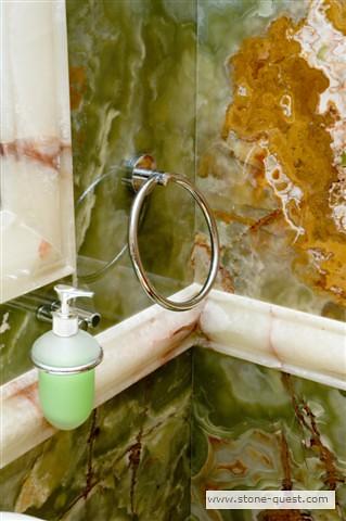Onyx bathroom by stone quest com green onyx bathroom with
