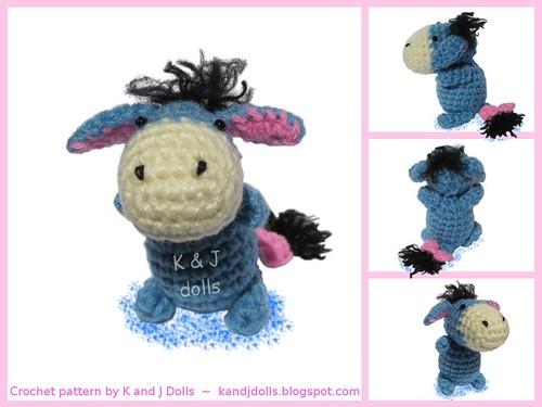 Knitted Tie Patterns : Eeyore donkey crochet pattern Crochet pattern: kandjdolls.? Flickr