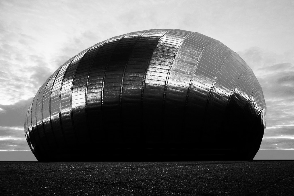 Modern Architecture Scotland glasgow imax - suggestion, large metal orb, modern archite… | flickr