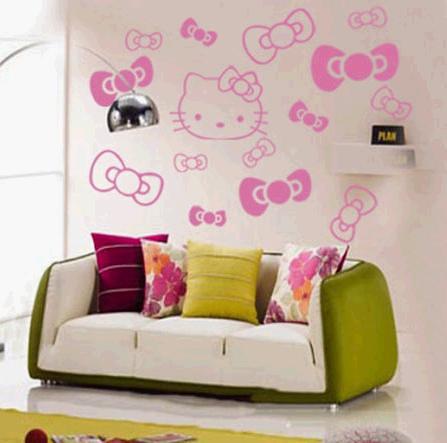 ... HELLO KITTY wall art sticker | by wiwicoco & HELLO KITTY wall art sticker | More design please visit wiwiu2026 | Flickr