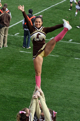 Bottomless cheerleader