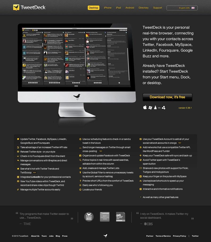 Desktop « TweetDeck | www tweetdeck com/desktop/ | Chris Messina
