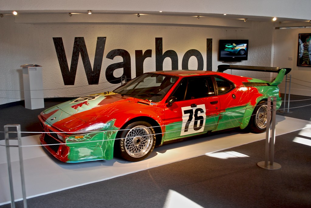 Car Paint Colors >> BMW M1 art car - Andy Warhol 1979 | Warhol explained the swe… | Flickr