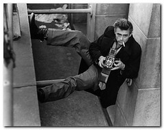 James Dean with Rolleiflex | by donsnyc