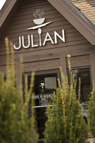 Julian storefront signage a brand identity and voice