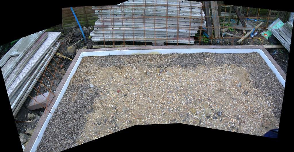 Garage concrete slab granular base laid dscn1470 garage for Concrete slab for garage