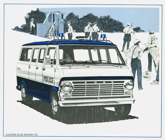 Ford Passenger Van >> 1969 Ford Custom Club Wagon Police Vehicle | Available in 5,… | Flickr